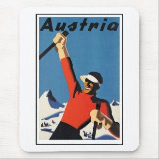 Vintages österreichisches Reise-Plakat Mauspads