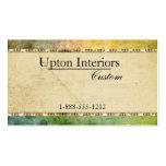 Vintages Papier, grüner Batik Visitenkarte