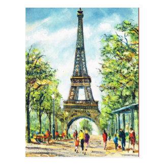 Vintages Paris, Eiffel-Turm Postkarte