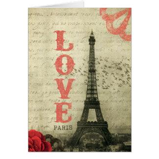 Vintages Paris Grußkarte