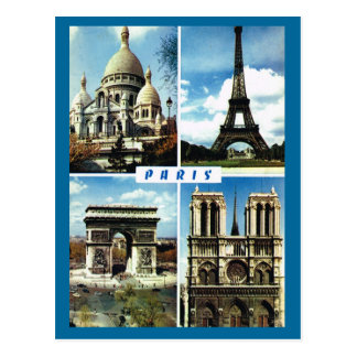 Vintages Paris, Paris Multiview Postkarte