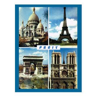 Vintages Paris, Paris Multiview Postkarten
