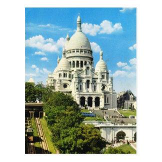 Vintages Paris, Paris Sacre Coeur, Montmatre Postkarte