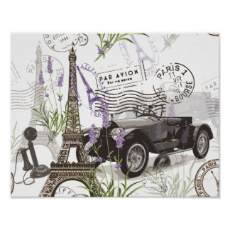 Vintages Paris Poster