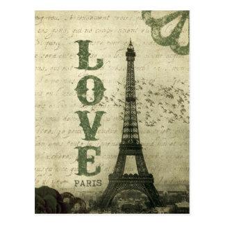 Vintages Paris Postkarte