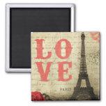 Vintages Paris Quadratischer Magnet