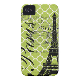 Vintages Paris- u. Eiffel-Turm-BlackBerry mutig iPhone 4 Case-Mate Hülle