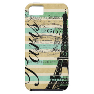 Vintages Paris- u. Eiffel-Turm-BlackBerry mutig iPhone 5 Cover