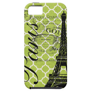 Vintages Paris- u. Eiffel-Turm-BlackBerry mutig iPhone 5 Etui