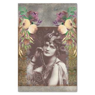 Vintages Party-Mädchen-viktorianisches Seidenpapier
