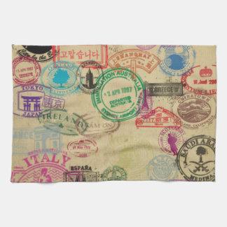 """Vintages Pass-Briefmarken-Küchen-Tuch 16"""" x 24"""" Handtuch"""