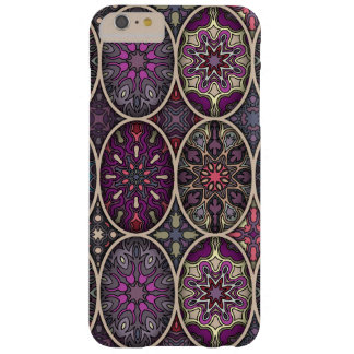 Vintages Patchwork mit Blumenmandalaelementen Barely There iPhone 6 Plus Hülle