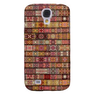 Vintages Patchwork mit Blumenmandalaelementen Galaxy S4 Hülle