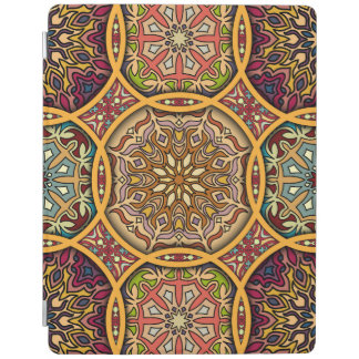 Vintages Patchwork mit Blumenmandalaelementen iPad Hülle