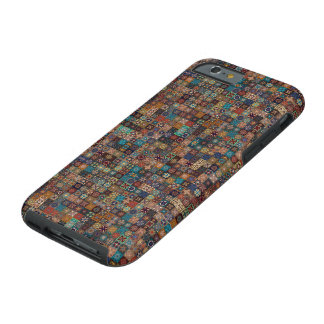 Vintages Patchwork mit Blumenmandalaelementen Tough iPhone 6 Hülle