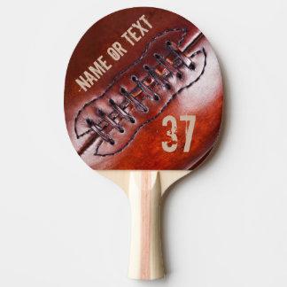 Vintages personalisiertes FußballPing Pong Paddel Tischtennis Schläger