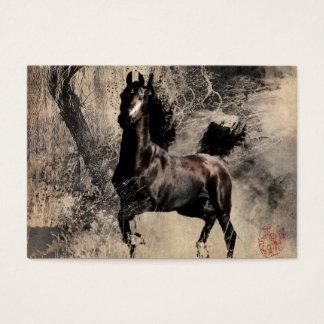 Vintages Pferd - chinesische Malerei-Kunst Jumbo-Visitenkarten