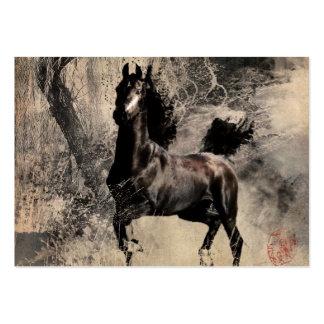 Vintages Pferd - chinesische Malerei-Kunst Mini-Visitenkarten