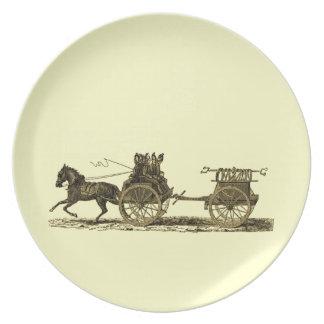 Vintages Pferd gezeichnete Teller