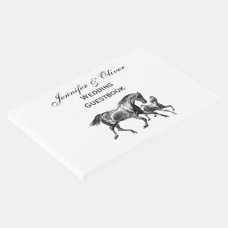 Vintages Pferdemutter-Baby-Fohlen Gästebuch