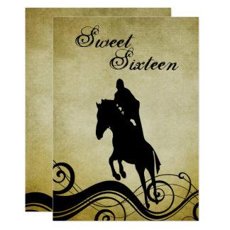 Vintages Pferdespringende Geburtstags-Einladung Karte