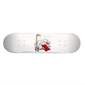 Vintages Piggies u. Vogel im Bad 20,6 Cm Skateboard Deck