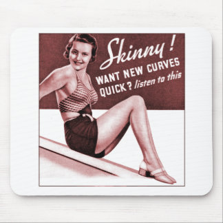 Vintages Pinup-Mädchen sind, die Sie, kurvt dünnes Mousepads
