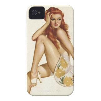 Vintages Pinup-Mädchen-ursprünglicher Farbton 1 iPhone 4 Cover