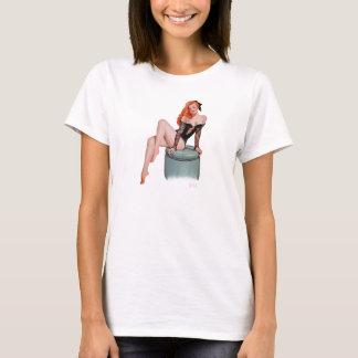 Vintages Pinupmädchen T-Shirt