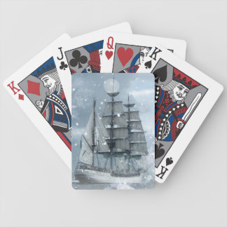 Vintages Piratenschiff des Bicycle Spielkarten