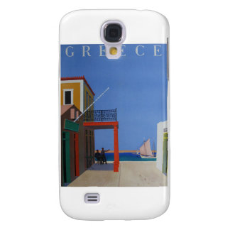Vintages Plakat Besuchs-Griechenlands Galaxy S4 Hülle