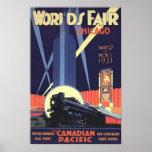 Vintages Plakat Chicago-Welt der Messe-1933