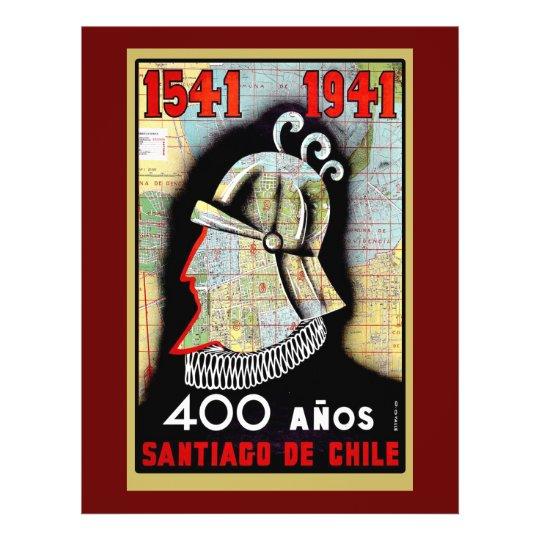 Vintages Plakat, das Chilen feiert 21,6 X 27,9 Cm Flyer