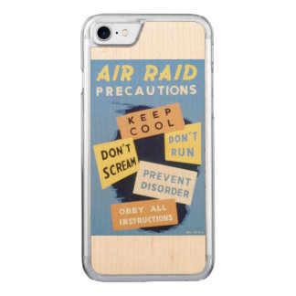Vintages Plakat der Luftangriff-Vorkehrungs-WPA Carved iPhone 8/7 Hülle