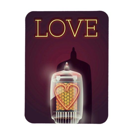 """Vintages Plakat der Nixie Rohr-""""Liebe"""" Magnet"""