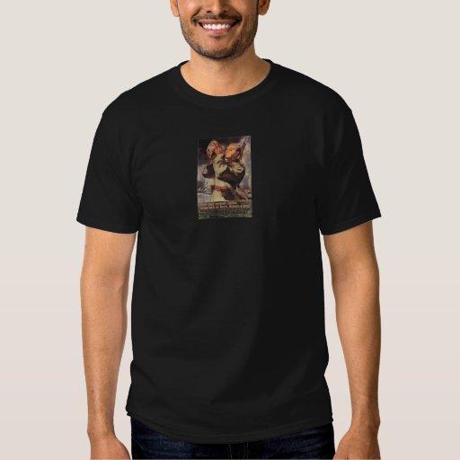 Vintages Plakat des Russe-WWII T Shirts
