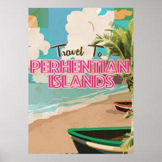 Vintages Plakat Ferien Perhentian Inseln