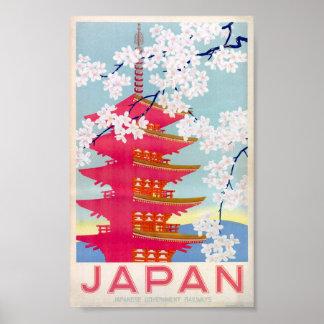Vintages Plakat Japans