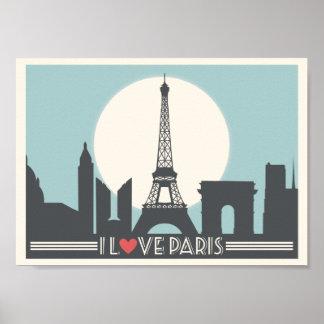Vintages Plakat Liebe I Paris