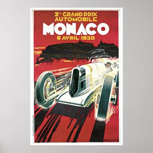 Vintages Plakat Monaco 1930