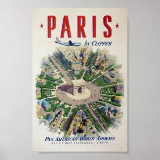 Vintages Plakat Paris