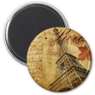Vintages Plakat Paris Runder Magnet 5,7 Cm