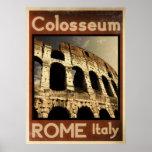 Vintages Plakat Roms Italien