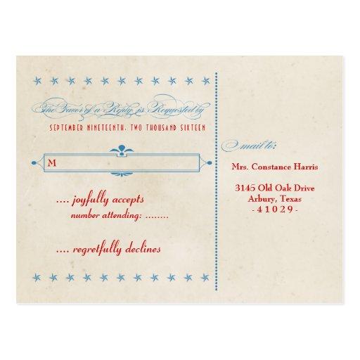 Vintages Plakat-rote, weiße u. blaue UAWG Postkarte