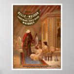 Vintages Plakat: Schönheit von Nelson-Whisky