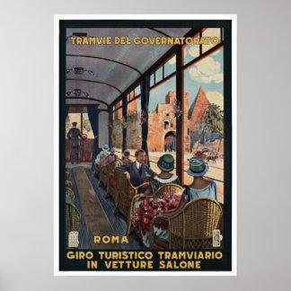 Vintages Plakat Tramvie Del Governatorato Rom