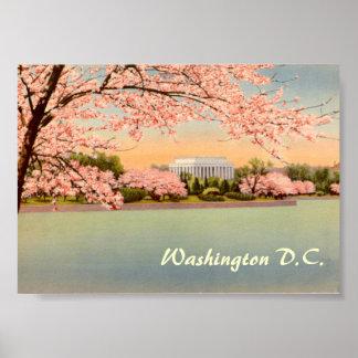 Vintages Plakat, Washington DC