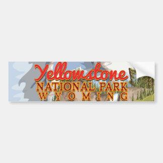 Vintages Plakat Yellowstone Autoaufkleber