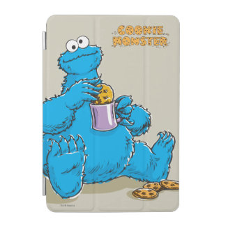 Vintages Plätzchen-Monster, das Plätzchen isst iPad Mini Cover