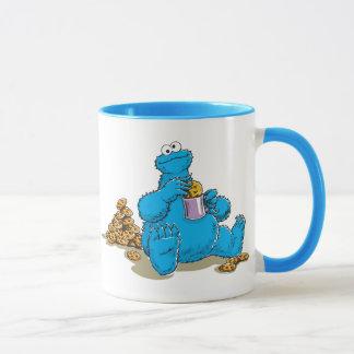 Vintages Plätzchen-Monster, das Plätzchen isst Tasse